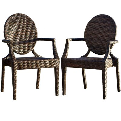 Home Loft Concept Adriana Outdoor Arm Chair (Set of 2)