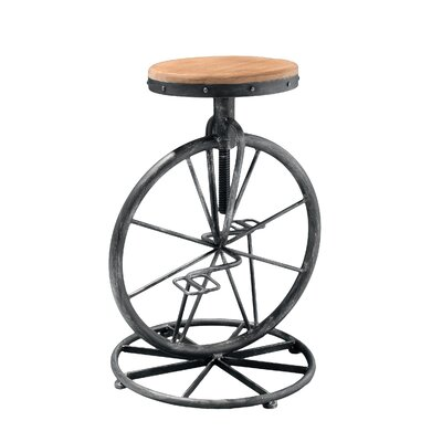 Home Loft Concept Michaelo Bicycle Wheel Adjustable Bar Stool