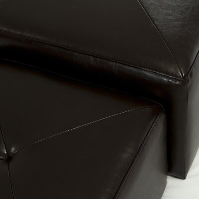 Home Loft Concept Saturn Bonded Leather Nested Ottomans (Set of 3)