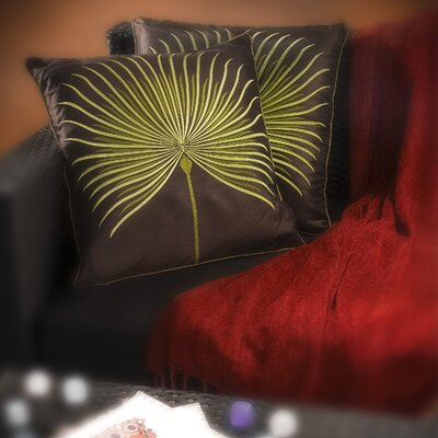 Home Loft Concept Embroidered Leaf Pillow (Set of 2)