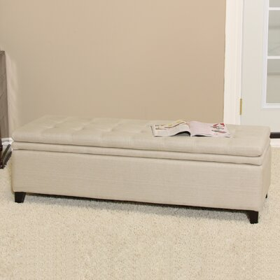 Home Loft Concept Brighton Storage Ottoman in Sand