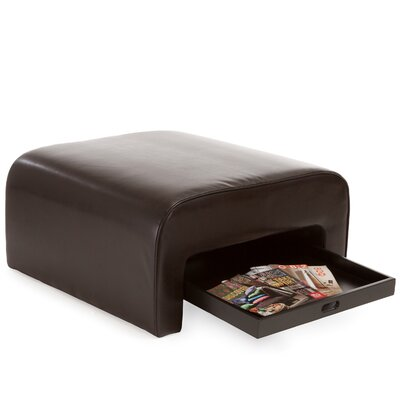 Home Loft Concept Zachary Bonded Leather Tray Ottoman