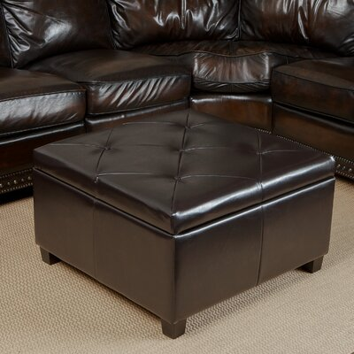 Weldon Bonded Leather Storage Ottoman