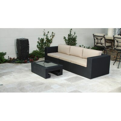 Home Loft Concept Malaga Outdoor 3 Piece Couch Plus Table