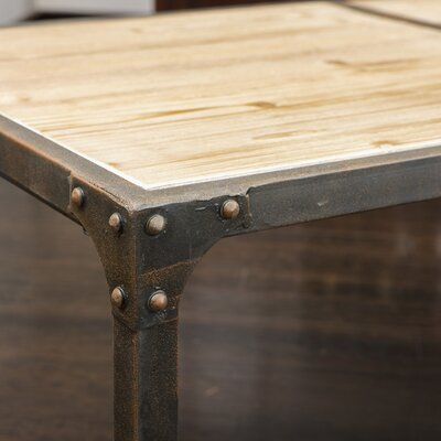 Home Loft Concept Monroe Weathered Wood Dining Table