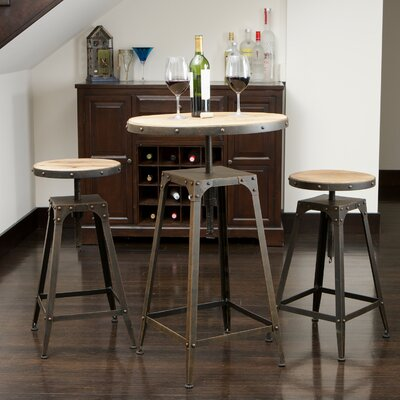 Home Loft Concept Rutherford 3 Piece Bar Set