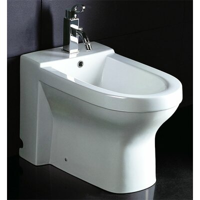 EAGO Ceramic Bathroom Bidet with Elongated Seat