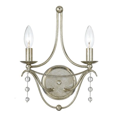 Crystorama Metro 2 Light Wall Sconce