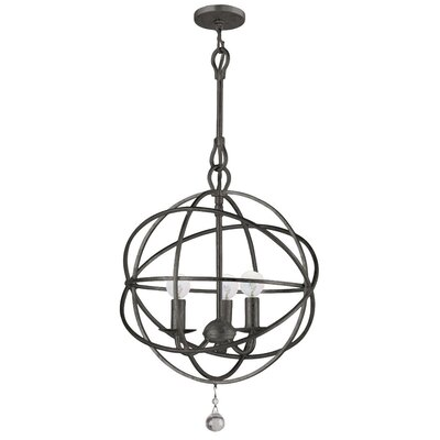 <strong>Crystorama</strong> Solaris 3 Light Mini Foyer Pendant