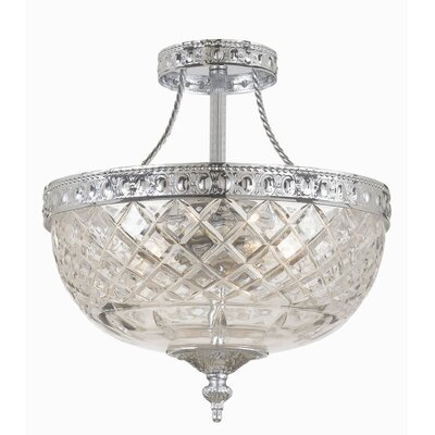 Crystorama Cortland 2 Light Semi Flush Mount