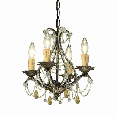 Crystorama Abigail 4 Light Mini Chandelier