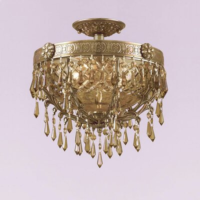 Crystorama Regal 2 Light Semi Flush Mount
