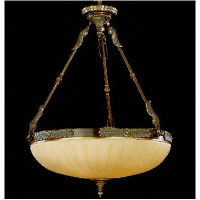 Crystorama Bravado Alabaster 4 Light Inverted Pendant