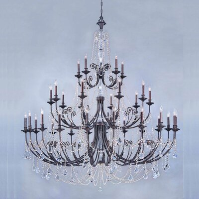 Crystorama Regis 35 Light Chandelier
