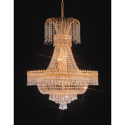 Empire II Twenty Light Chandelier in 24K Gold Plated