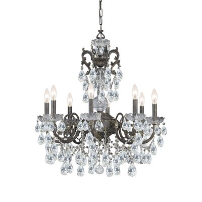 Traditional Classic 8 Light Crystal Candle Chandelier