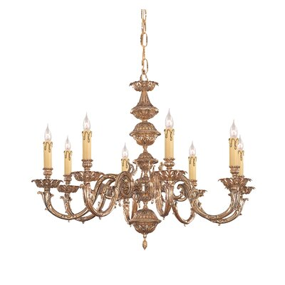 Olde World 8 Light Candle Chandelier