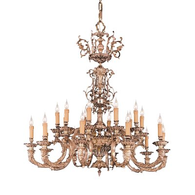 Olde World 20 Light Candle Chandelier