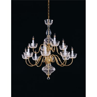 Crystorama Colonial 12 Light Chandelier