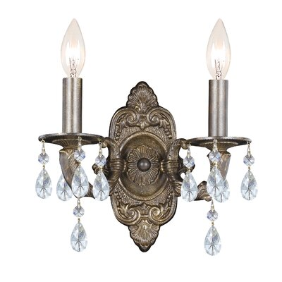 Crystorama Sutton 2 Light Candle Wall Sconce