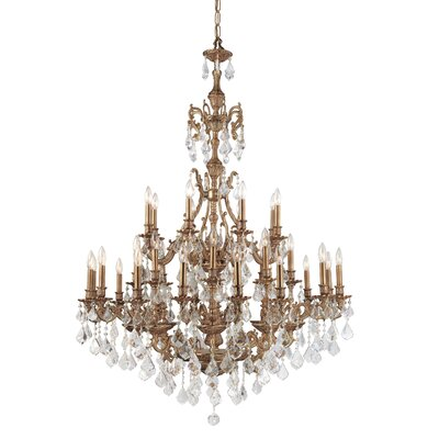 Crystorama Yorkshire 24 Light Hand Polished Chandelier
