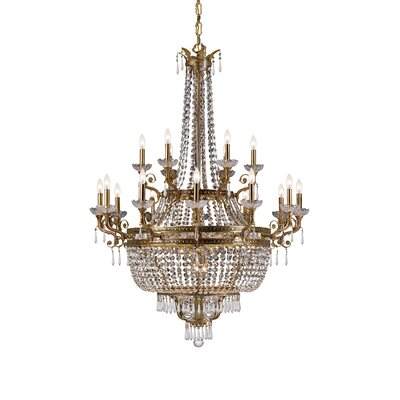 Crystorama Regal 12 Light Hand Polished Chandelier