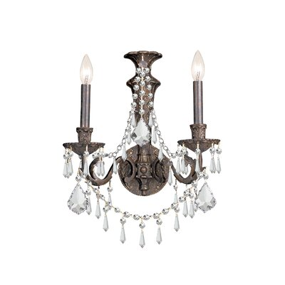 Traditional Crystal Wall Lights : Traditional Classic 2 Light Crystal Candle Wall Sconce Wayfair