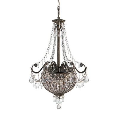 Traditional Classic 6 Light Foyer Inverted Pendant