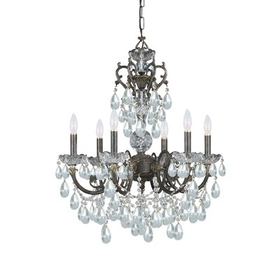 Traditional Classic 6 Light Crystal Candle Chandelier