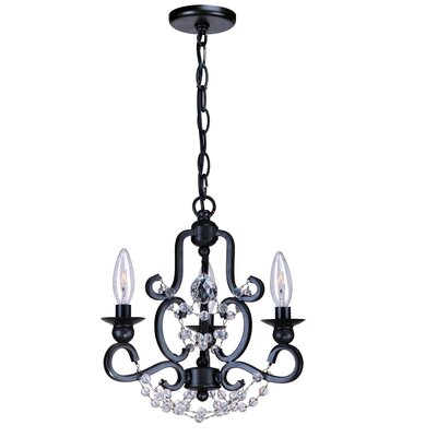 Crystorama Orleans 3 Light Mini Chandelier