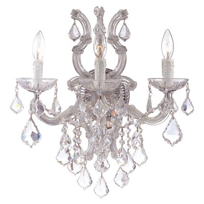 Crystorama Maria Theresa 3 Light Wall Sconce