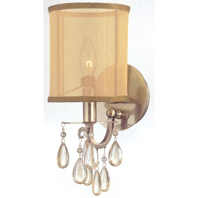 Crystorama Hampton 1 Light Wall Sconce