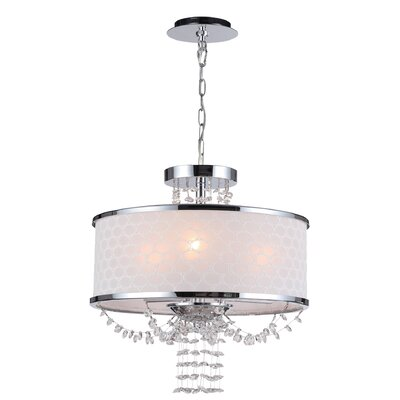 Allure Three Light Chandelier in Polished Chrome