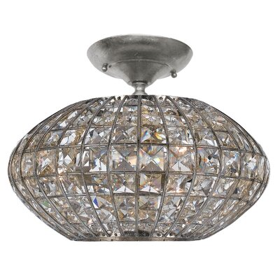 Crystorama Solstice 3 Light Semi Flush Mount