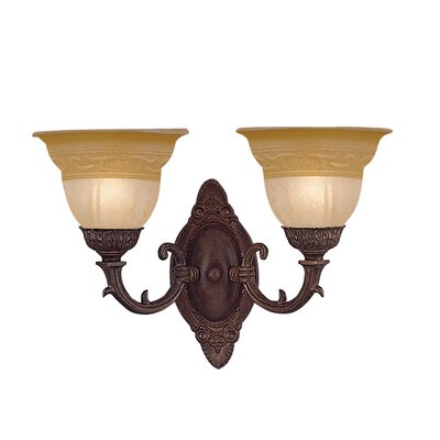 Crystorama Oxford 2 Light Wall Sconce