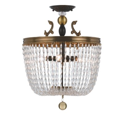 Crystorama Kendall 5 Light Semi Flush Mount