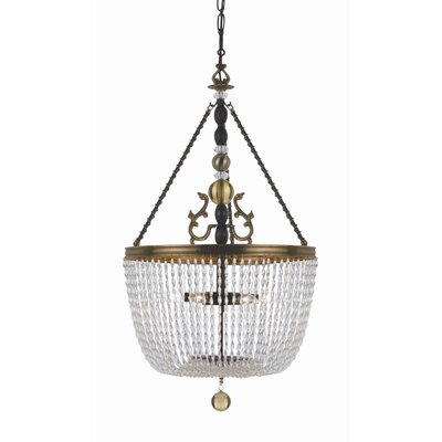 Crystorama Kendall 6 Light Inverted Pendant