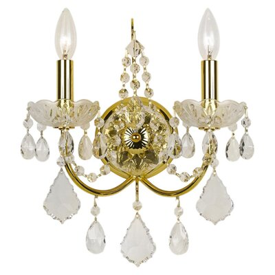 Crystorama Imperial 2 Light Candle Wall Sconce