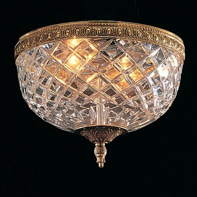 Crystorama Olde World Lead Crystal 2 Light Flush Mount