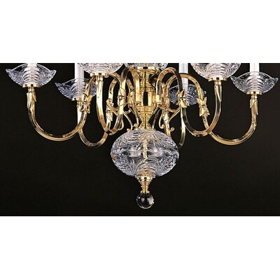 Crystorama Historical Brass Chandelier