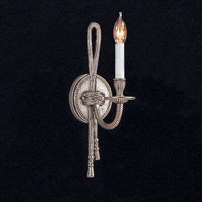 Crystorama Baroque 1 Light Candle Wall Sconce