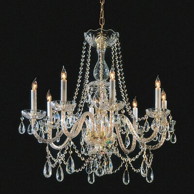 Crystorama Bohemian 8 Light Candle Chandelier
