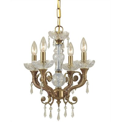 Crystorama Traditional Classic 4 Light Crystal Candle Chandelier
