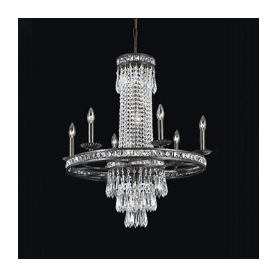 Crystorama Traditional Classic 10 Light Majestic Series Crystal Chandelier