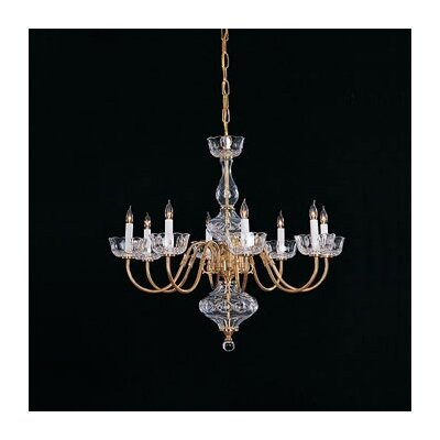 Colonial Chandelier in Polished Brass