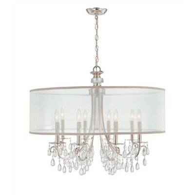 Crystorama Hampton  Chandelier in Chrome
