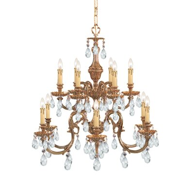 Crystorama Olde World 12 Light Candle Chandelier