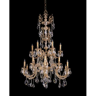 Olde World 18 Light Candle Chandelier