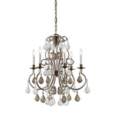 Crystorama Traditional Classic 6 Light Crystal Candle Chandelier