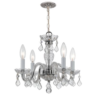 Traditional Crystal 4 Light Chandelier